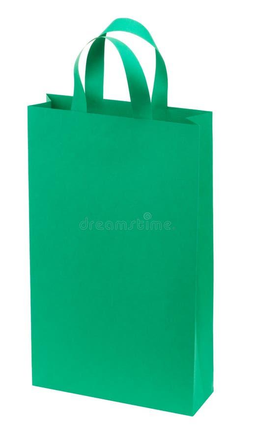 Un bolso de compras del Libro Verde imágenes de archivo libres de regalías