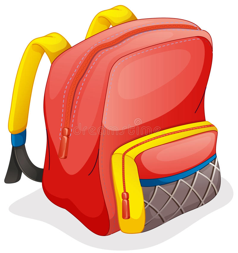 Un bolso de escuela ilustración del vector