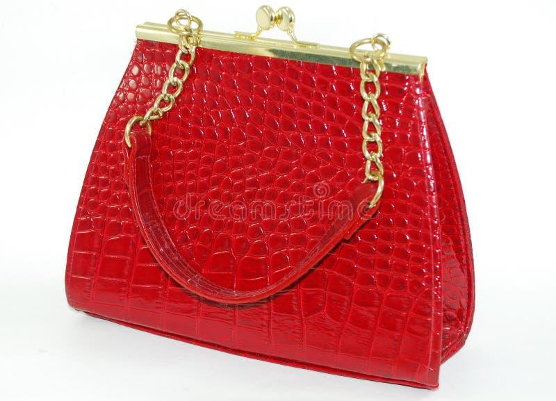 Un bolso rojo imagen de archivo libre de regalías