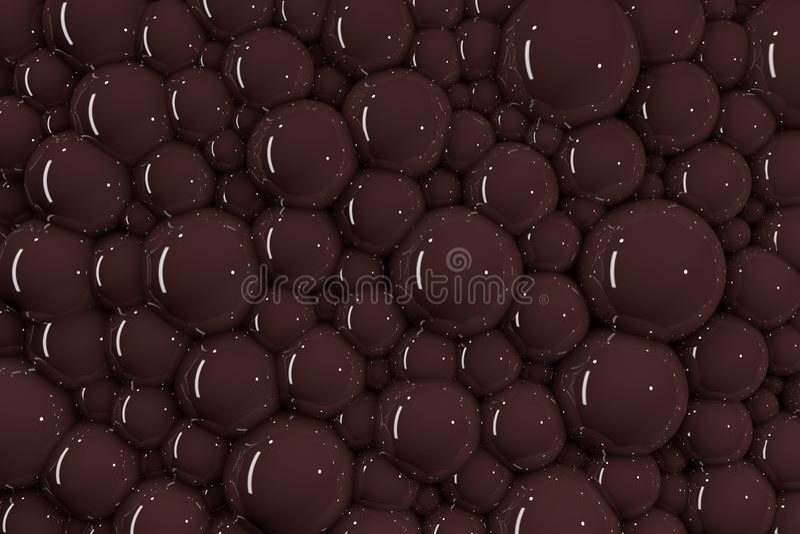 un bon nombre 3D de bulles de chocolat illustration libre de droits