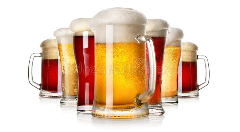 Un bon nombre de bière photos stock