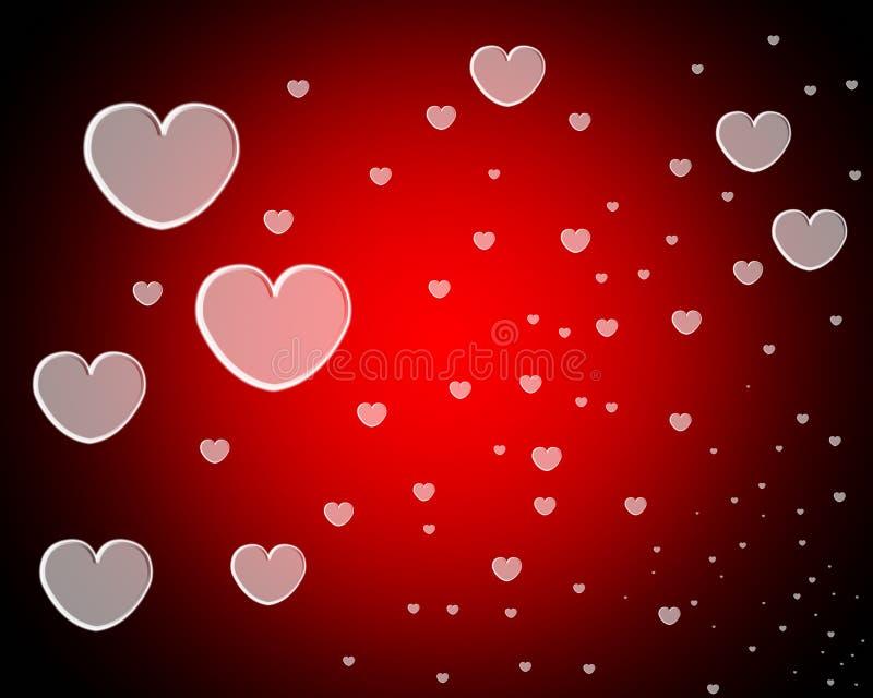 Un bon nombre de coeurs d'amour illustration libre de droits