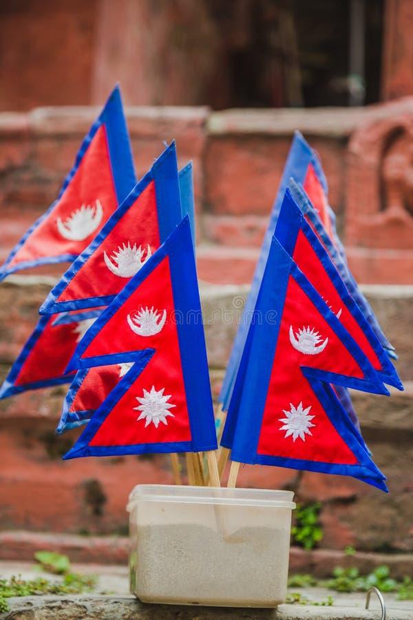 Un bon nombre de drapeaux de Nepali photo libre de droits