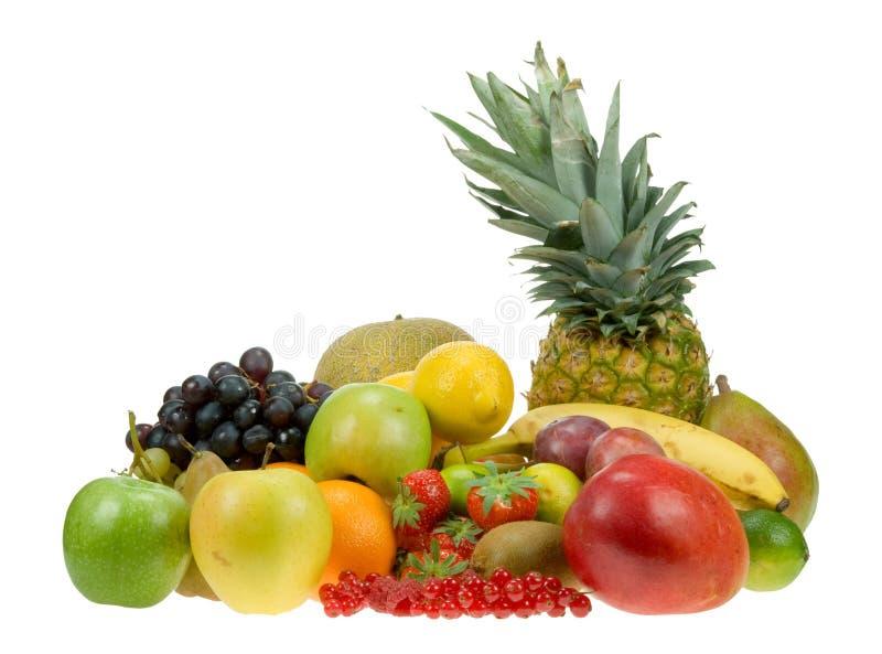 Un bon nombre de fruit frais images stock