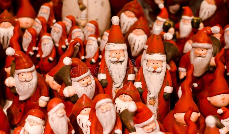 Un bon nombre de Santa image libre de droits