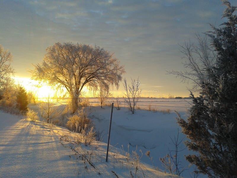 Un bonheur d'hiver images stock