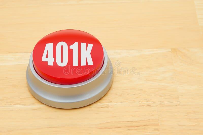 Un botón del rojo 401k imágenes de archivo libres de regalías