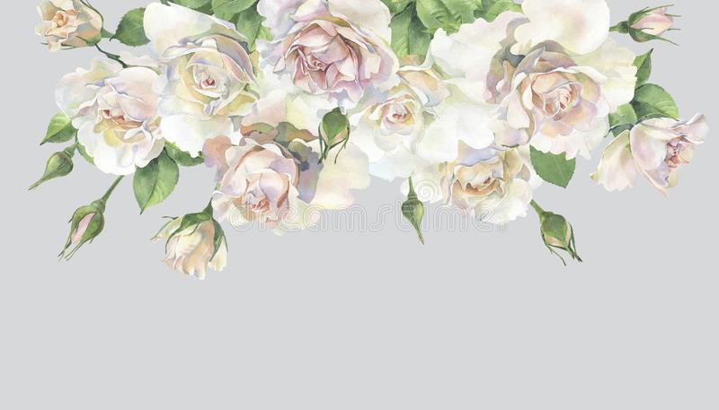 Un bouquet de belles roses illustration stock