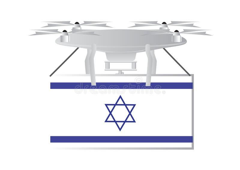 Un bourdon avec le drapeau israélien illustration libre de droits