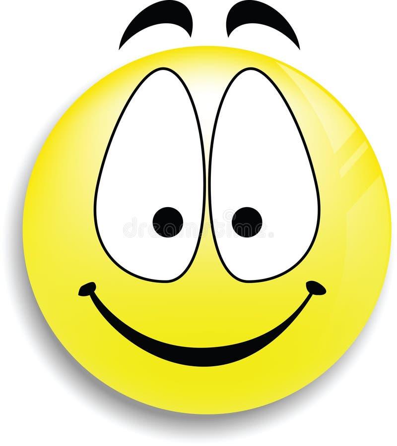 Un bouton souriant heureux de visage illustration de vecteur