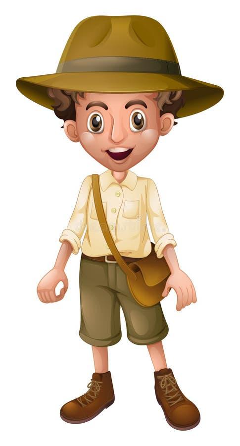 Un boy scout Wearing Hat ilustración del vector