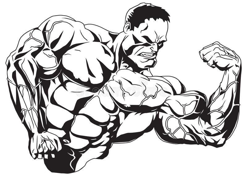 Un brazo doblado stock de ilustración