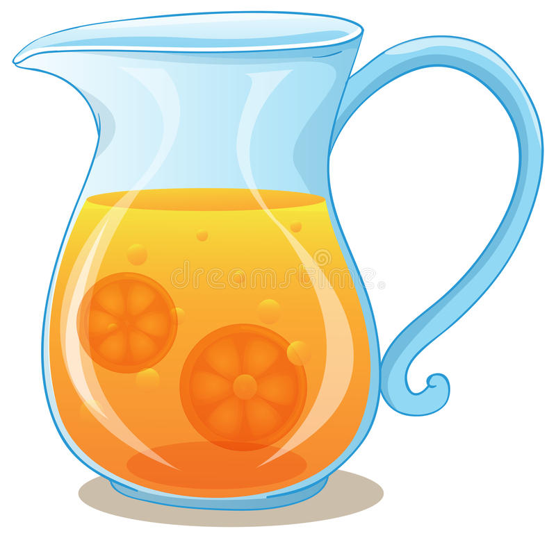 Un broc de jus d'orange illustration libre de droits