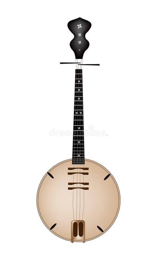 Un Brown musical Dan Nguyet sur le fond blanc illustration de vecteur