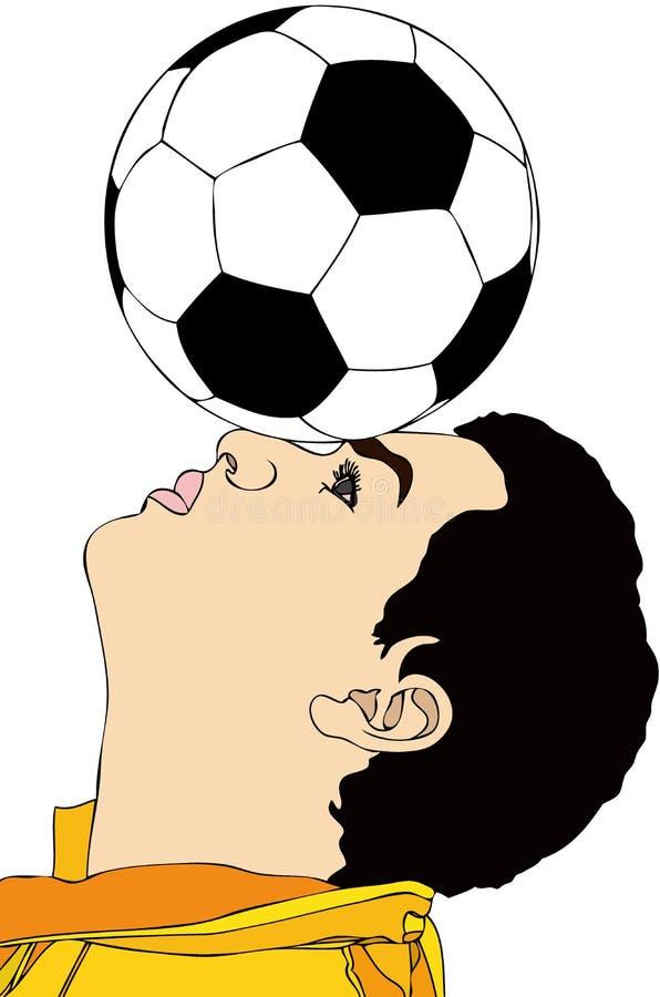 Un buen jugador de fútbol libre illustration