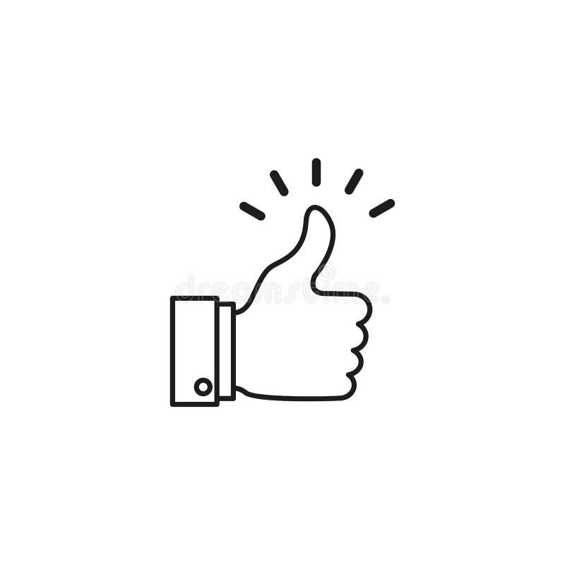 Un bueno, como noticias, trabaja, está de acuerdo, confirma el icono ilustración del vector