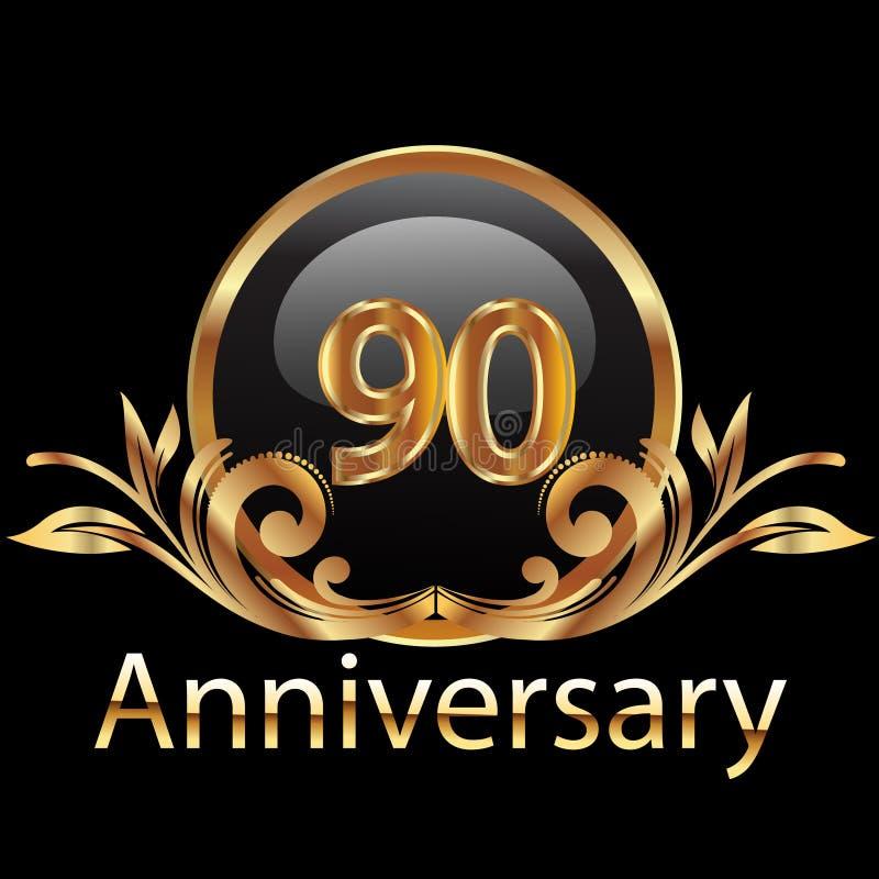 un buon compleanno di 90 anniversari royalty illustrazione gratis