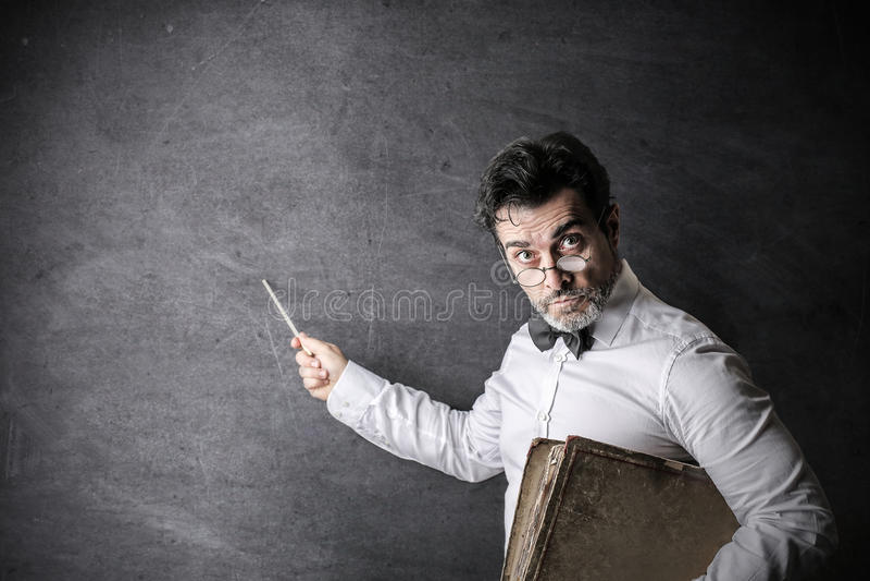 Un buon insegnante fotografie stock