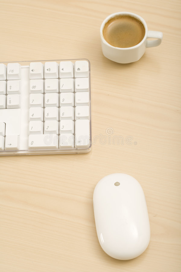 Un bureau minimalistic image libre de droits