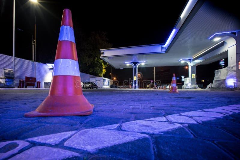 Un cône du trafic image libre de droits