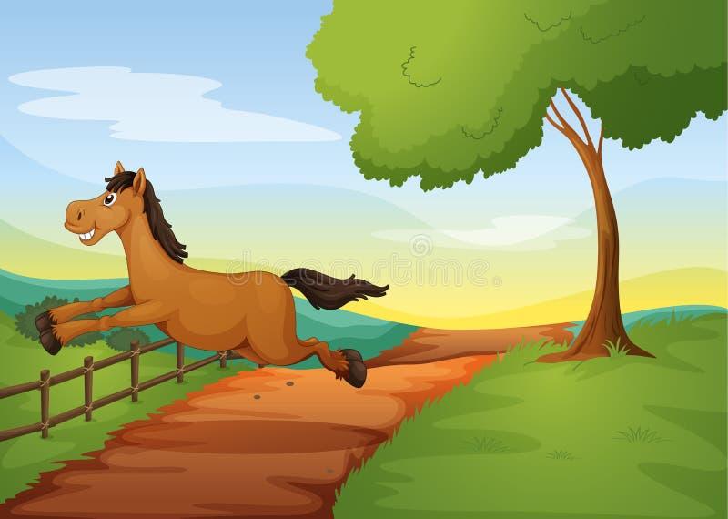 Un caballo libre illustration