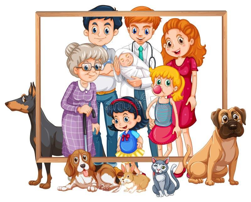Un cadre de photo de famille illustration stock