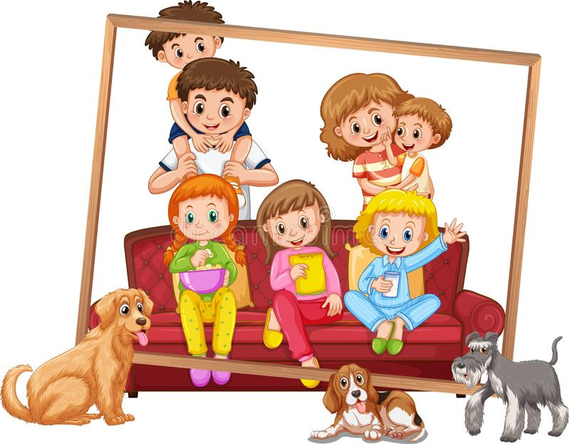 Un cadre de photo de famille illustration libre de droits