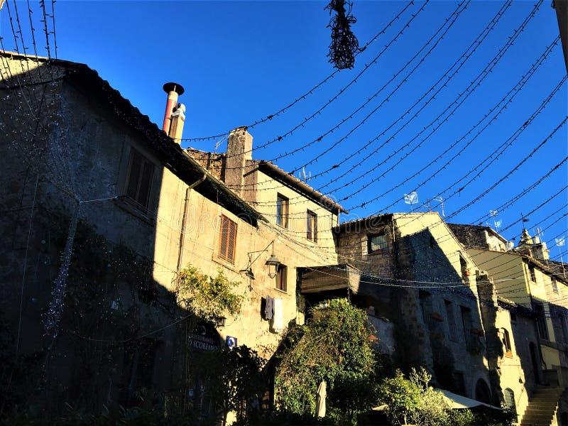 Un cadre de ville, de l'Italie, d'histoire et de fascination de Vitebo photos libres de droits