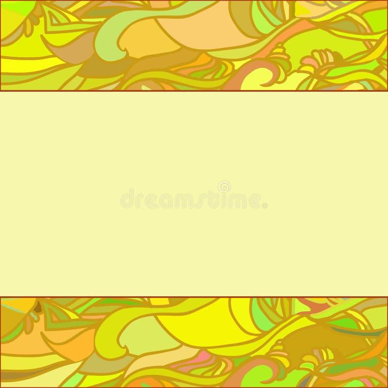 Un cadre jaune d'ornement floral photos libres de droits