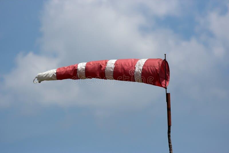 Un calcetín de viento fotografía de archivo