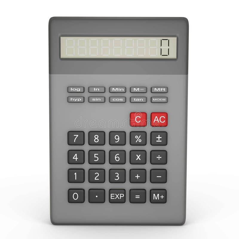 Un calcolatore scientifico isolato - un'immagine 3d illustrazione di stock