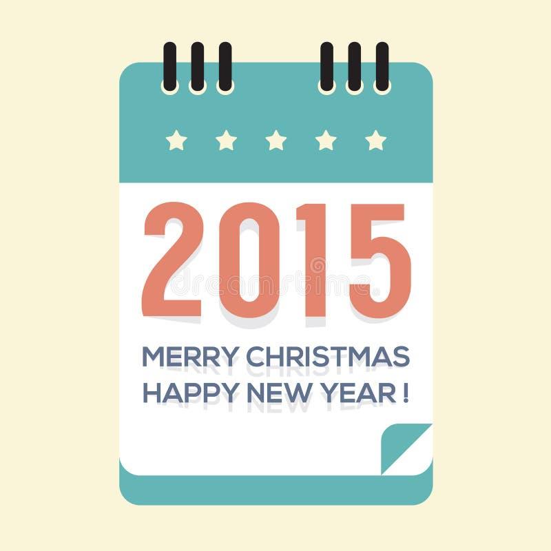 Un calendario da 2015 nuovi anni illustrazione vettoriale