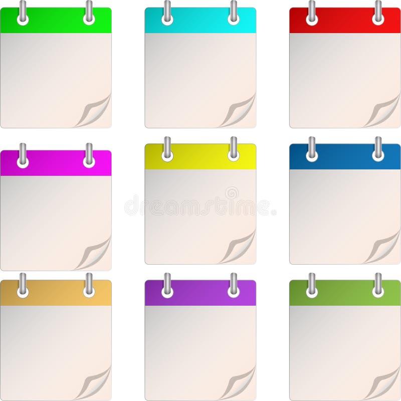Un calendario en blanco ilustración del vector