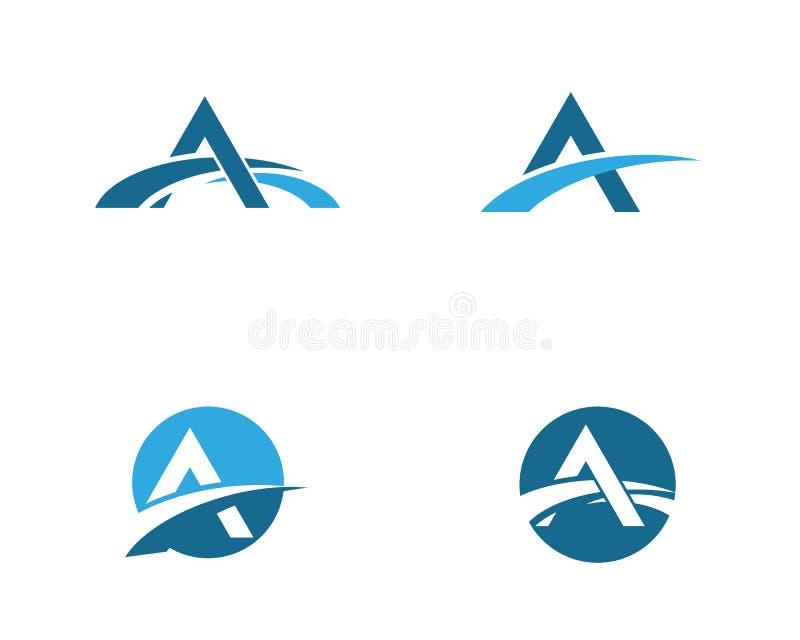 Un calibre de logo d'icône de pont de lettre illustration stock