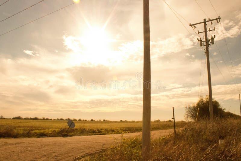 Un camino del ` s del granjero imagen de archivo
