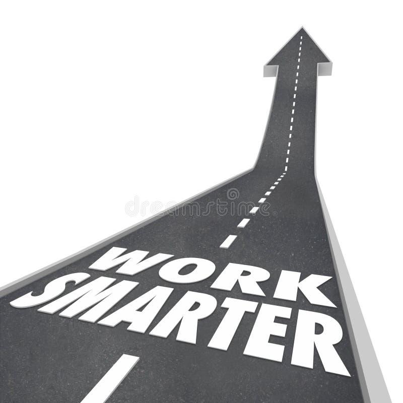 Un camino más elegante de las palabras del trabajo que sube encima del éxito Produc eficiente de la flecha libre illustration