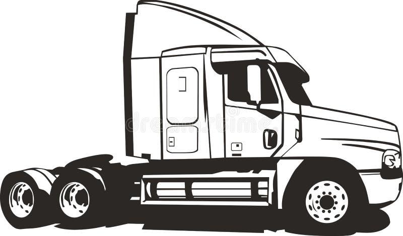 Un camion de remorque sans conteneur de cargaison illustration libre de droits
