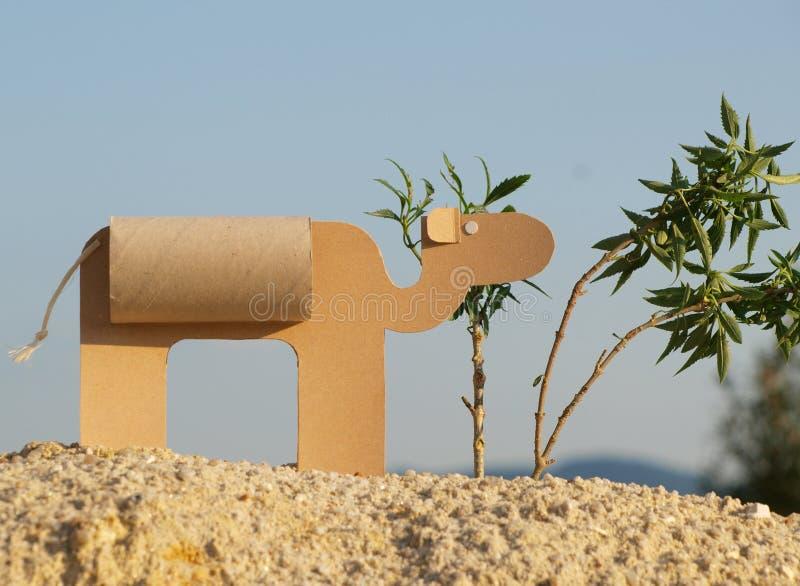 Un cammello di carta fotografie stock