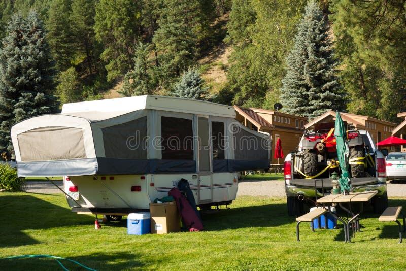 Un campeggio attivo a Pagosa Springs fotografia stock libera da diritti