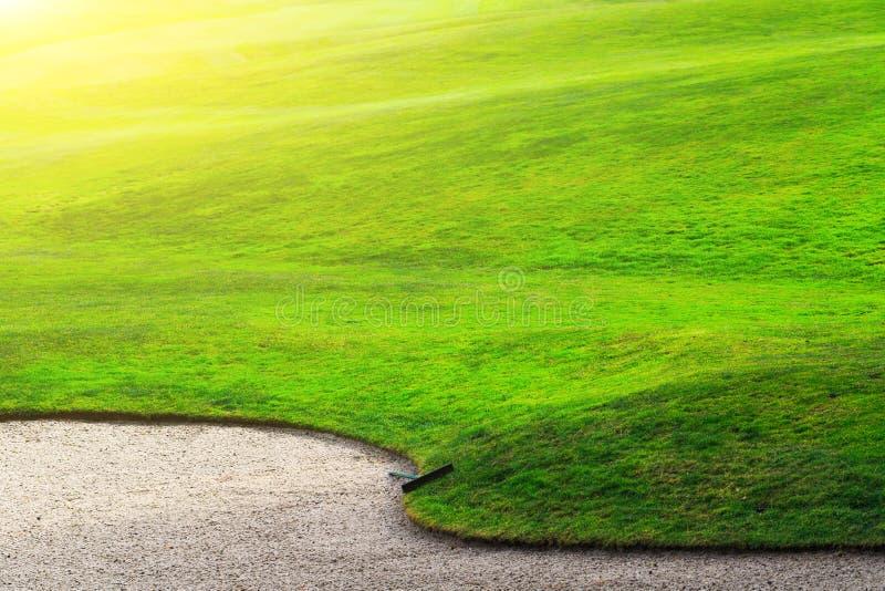 Un campo da golf del frammento immagini stock libere da diritti