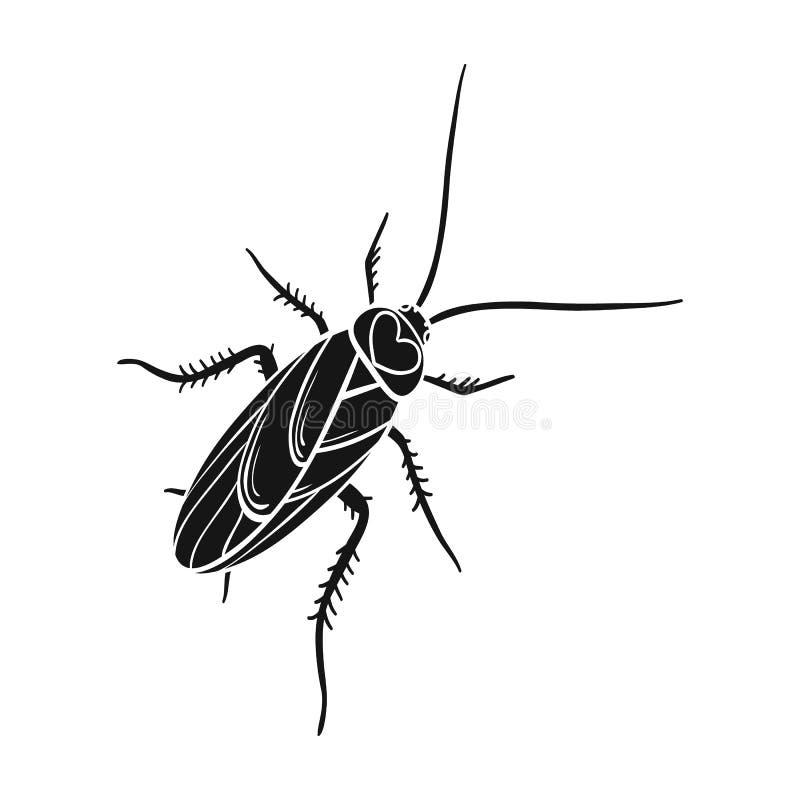 Un cancrelat moustachu Insecte d'arthropode, icône simple de cancrelat en stock noir de symbole de vecteur de style isométrique illustration de vecteur