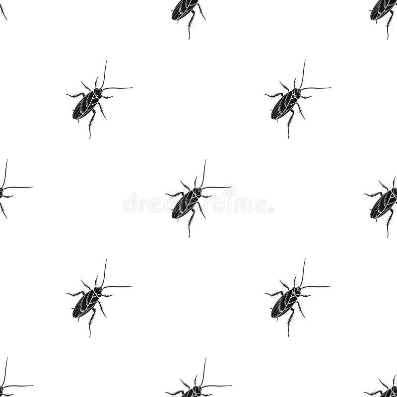 Un cancrelat moustachu Insecte d'arthropode, icône simple de cancrelat en stock noir de symbole de vecteur de style isométrique illustration libre de droits