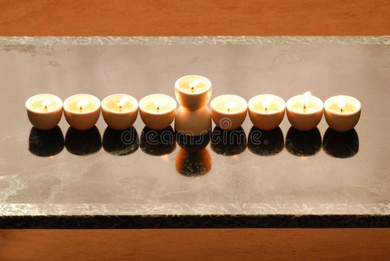 Un candelabrium de hanukkah