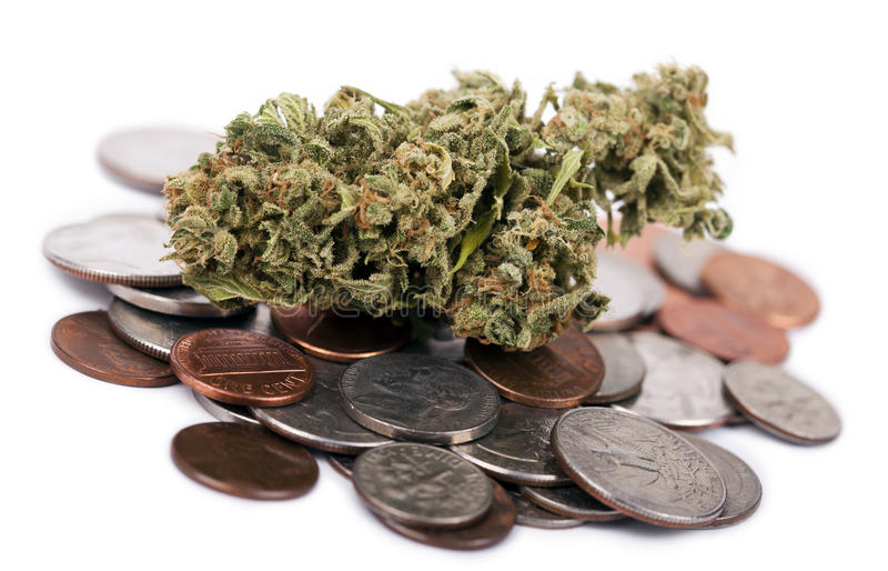 Marijuana et changement photos libres de droits