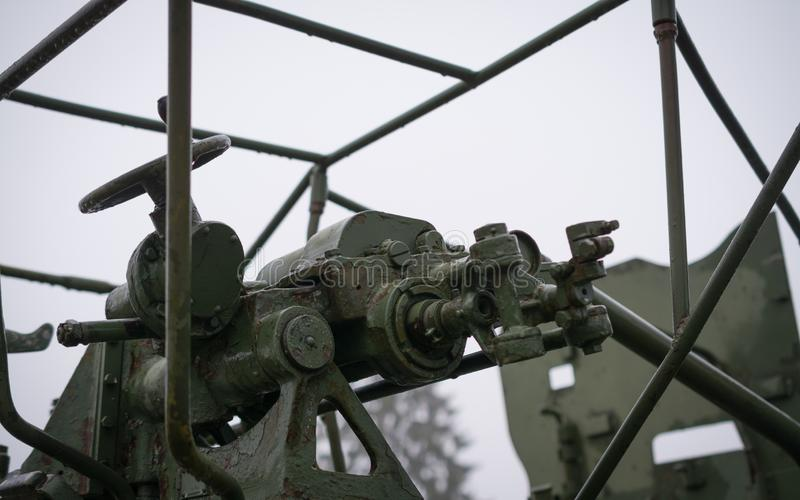 un cannone antiaereo automatico s-60 M1950 da 57 millimetri immagine stock