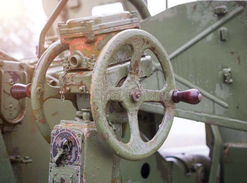 un cannone antiaereo automatico s-60 M1950 da 57 millimetri immagine stock libera da diritti