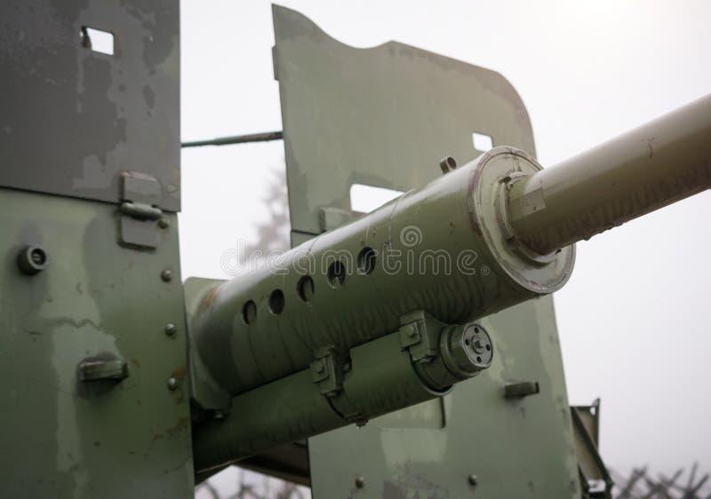 un cannone antiaereo automatico s-60 M1950 da 57 millimetri fotografia stock libera da diritti