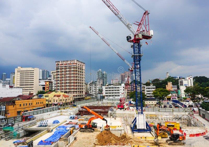 Un cantiere in Kuala Lumpur, Malesia fotografia stock