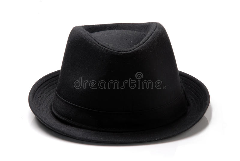 Un cappello nero fotografia stock libera da diritti