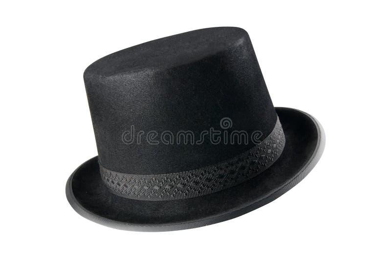 Un cappello nero alla moda immagini stock